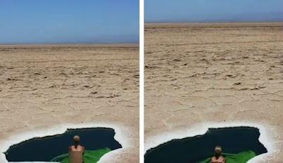 Kolam air asin di gurun paling panas di dunia