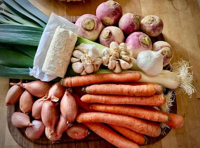French Village Lockdown Diaries day twenty-one benefits of shopping locally veggie box