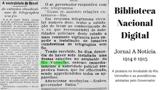 A pirataria no Arrabalde do Rio Vermelho e as providências adotadas pelo Governador em 1914