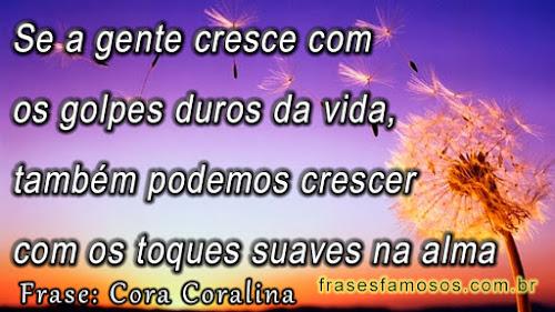 Frases de Cora Coralina sobre Golpes Duros da Vida e Toques na Alma