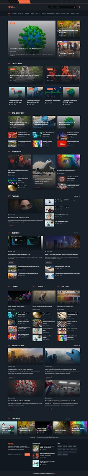 News and Magazine Ghost Blog Theme
