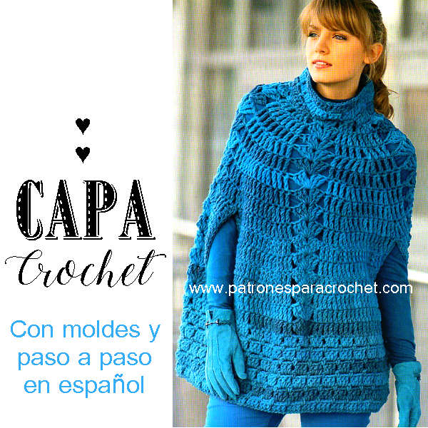 capa crochet paso a paso en español con moldes y diseño