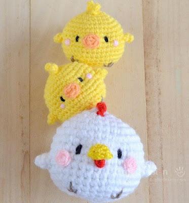 Курица и цыплята крючком