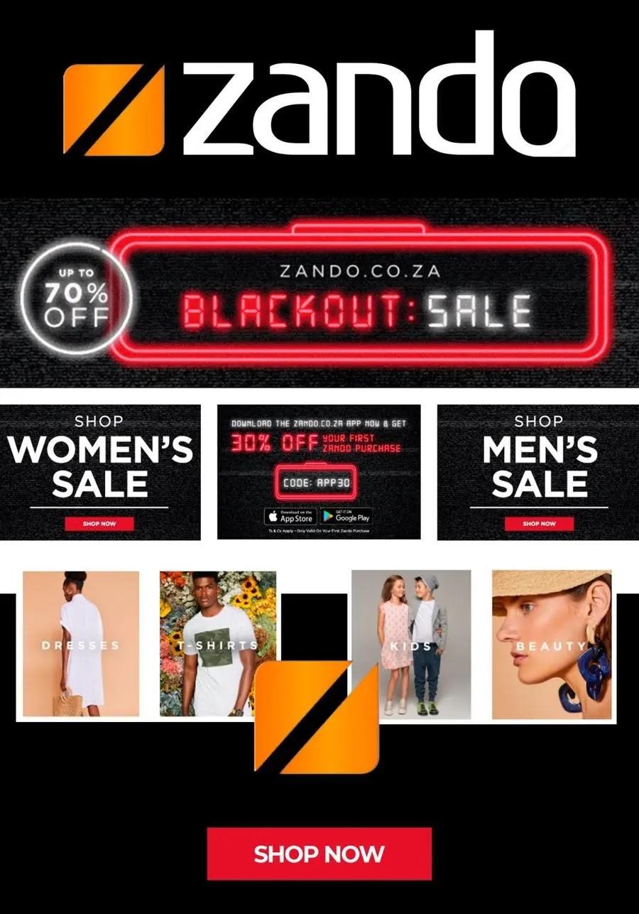 Zando Back Friday Fashion Hot Daily Deals Page 1