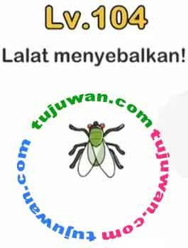 Brain Out : Lalat Menyebalkan! Jawaban Brain Out Level 104