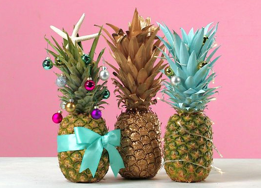 Tropical Pineapple Christmas Trees