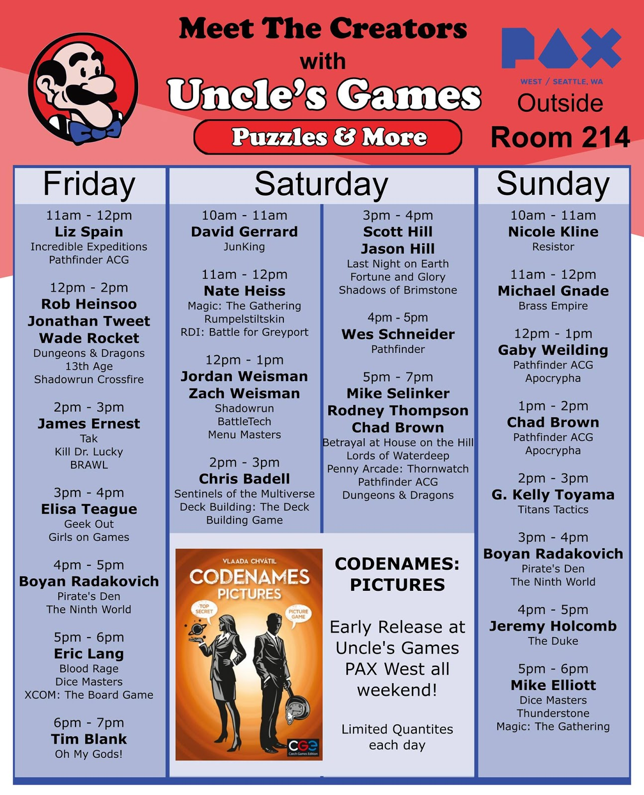 rob heinsoo pax schedule and beyond