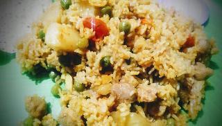 Serving Dal khichdi(vegetables) for Dal khichdi (vegetables) recipe