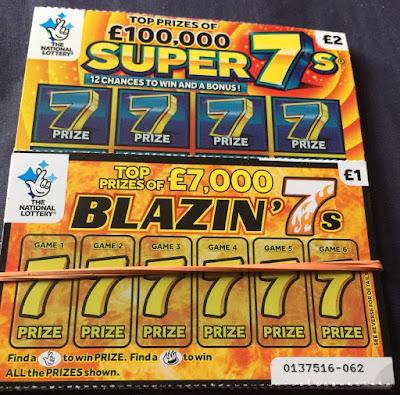 £1 Blazin' 7s and £2 Super 7s Scratchcard