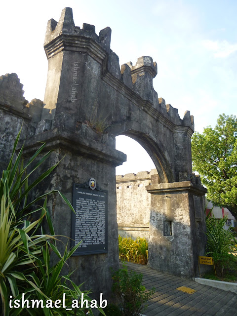 The west gate of the former Spanish Naval Base in Subic Bay