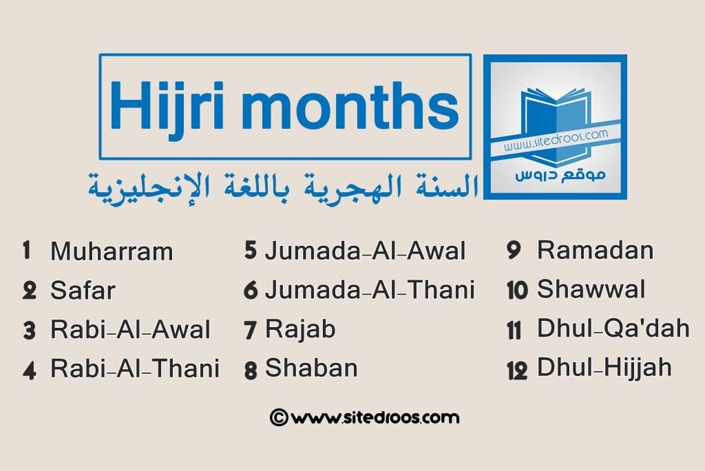 hijri months