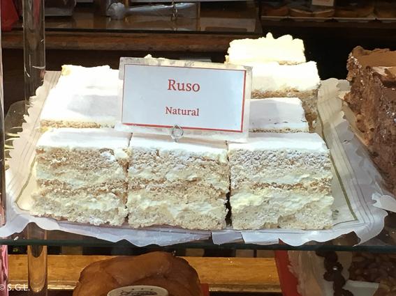 Ruso. Dulces tipicos de Bilbao
