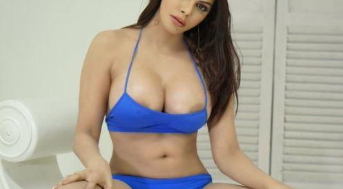 sherlyn-blue-bikini