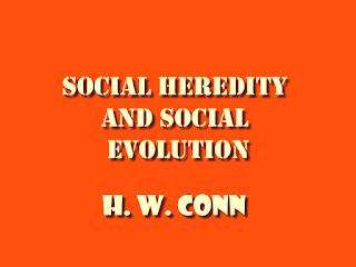 Social heredity and social evolution