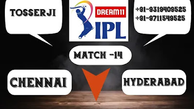 Today Match Prediction Chennai vs Hyderabad