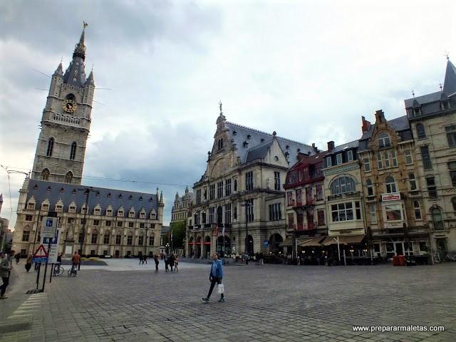 La plaza más importante de Gante