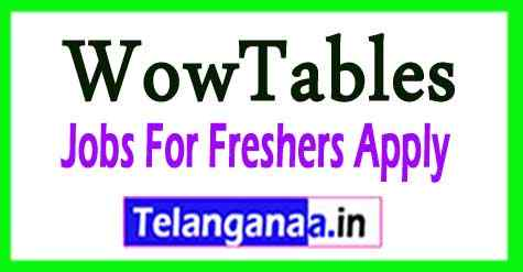 WowTables Recruitment Jobs For Freshers Apply