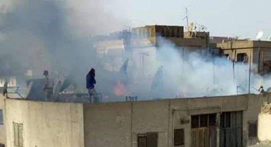 ماس كهربائى وراء نشوب حريق بشقة فى جرجا بسوهاج