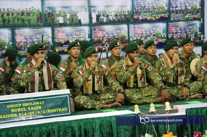 Juara 1 Festifal Ke III sholawat Khusus TNI ,Polri Sewilayah Jawa Timur Diraih Yonif Raider 514 Kostrad
