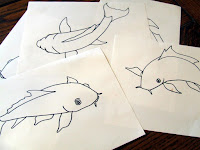 Drawings of carp