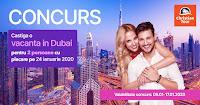 Castiga o vacanta in Dubai - concurs - giveaway - travel - free - excursie - christiatour - gratis - castiga.net