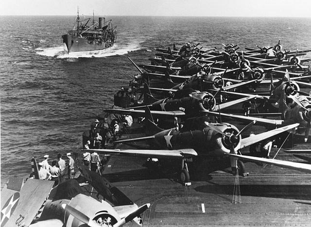 Tanker Sabine approaching Enterprise, 11 May 1942 worldwartwo.filminspector.com
