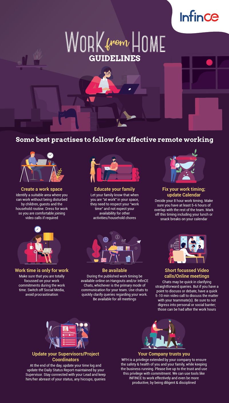 Work From Home Guidelines #infographic