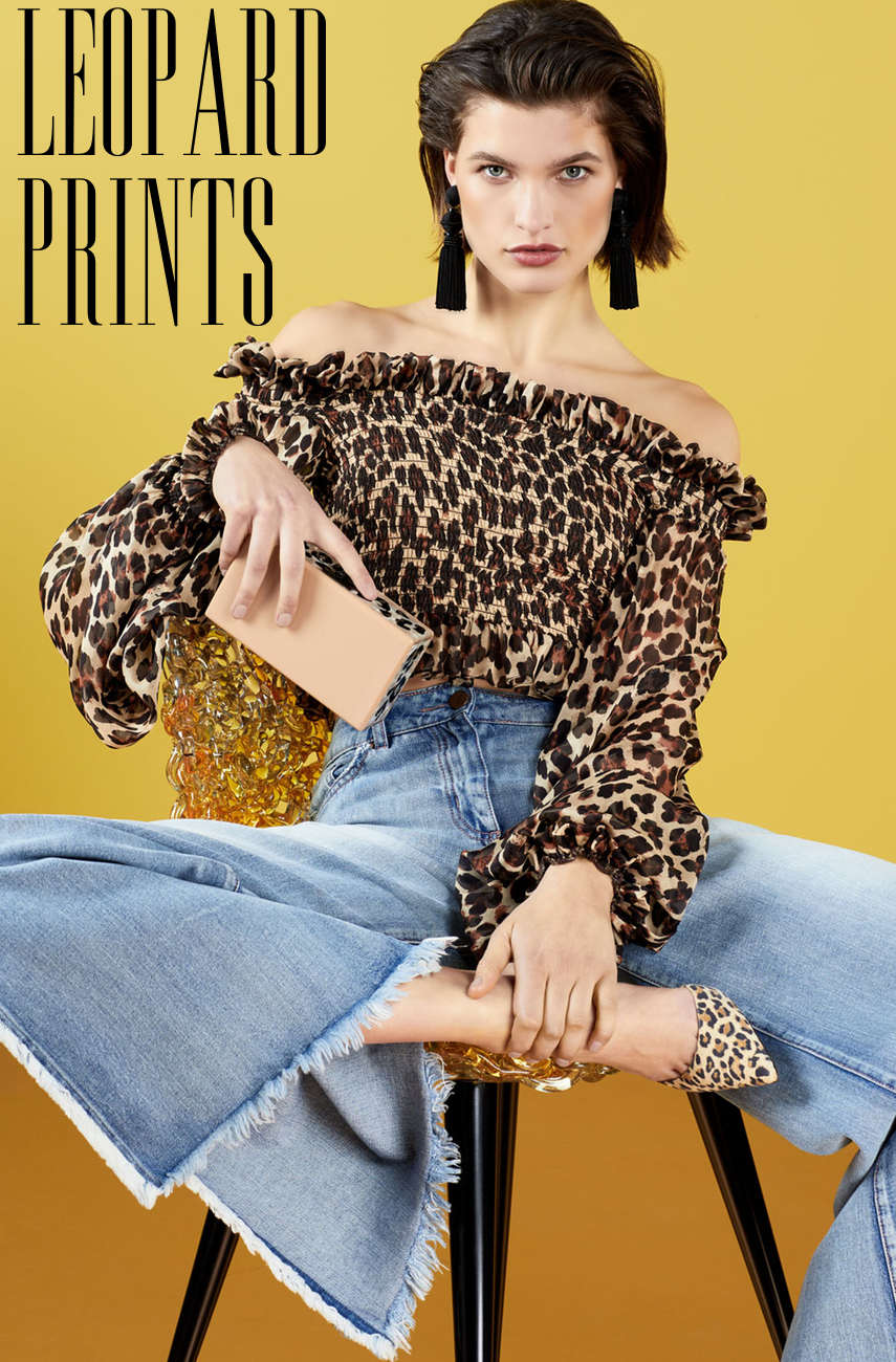 Caroline Constas Damaris Leopard-Print Off-the-Shoulder Top