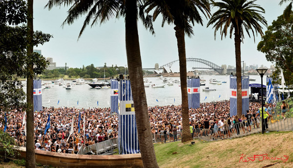 The view from above. Harbour Life Music Festival Sydney 2016. Photographed by Kent Johnson for Street Fashion Sydney.