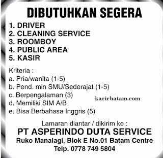 Lowongan Kerja PT. Asperindo Duta Service