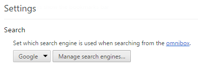 Manage search engines...