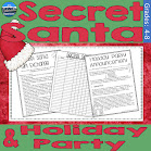 Secret Santa for your Classroom Holiday & Party Forms Product