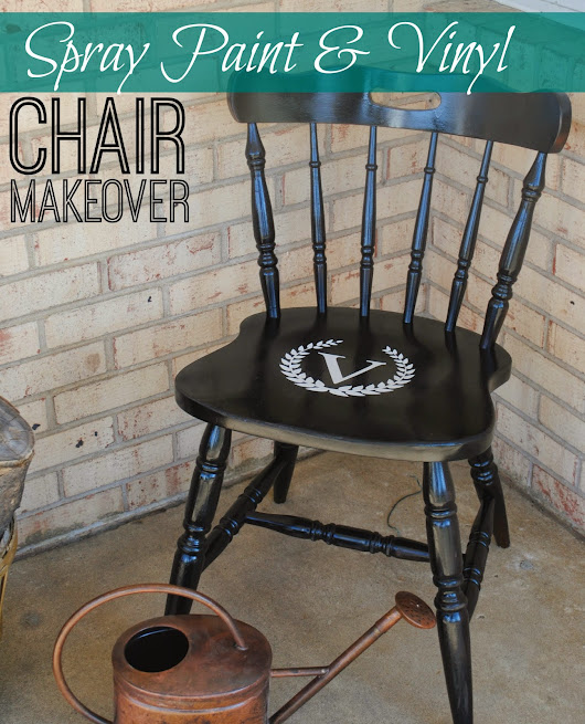 Wood Chair Makeover with Spray Paint (Before & After)