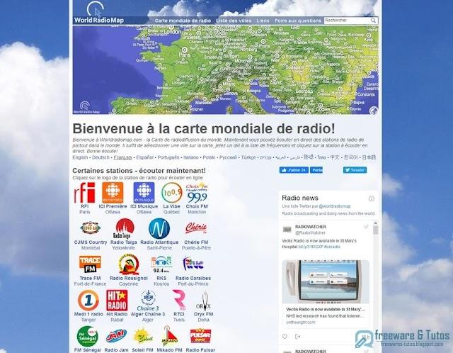 WorldRadioMap : la carte mondiale des radios en ligne