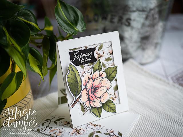 carte avec le jeu Allée de magnolias Stampin' UP!
