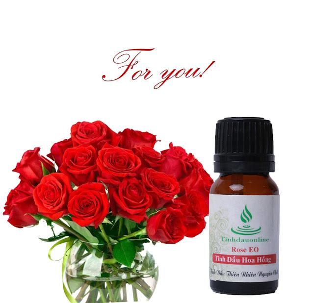 tinh dầu hoa hồng giúp thư giãn và làm đẹp