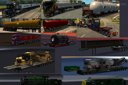 Chris45 Trailers Pack v9.14 for ETS2 V1.35