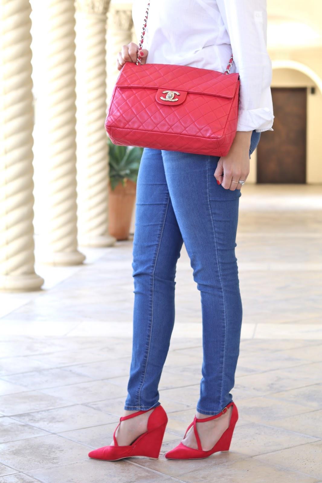 red caviar chanel, how to wear a caviar chanel bag, where to get a chanel bag, designer vault blogger