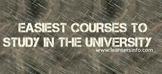 Easiest Courses To Study In The University