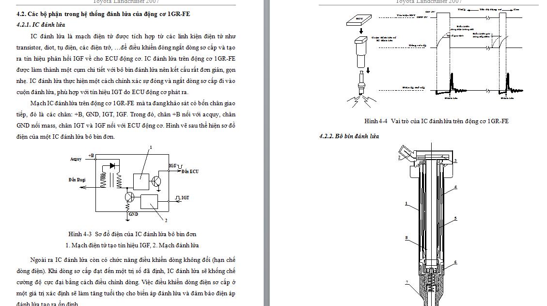 Khảo sát hệ thống đánh lủa động cơ 1GR-FE