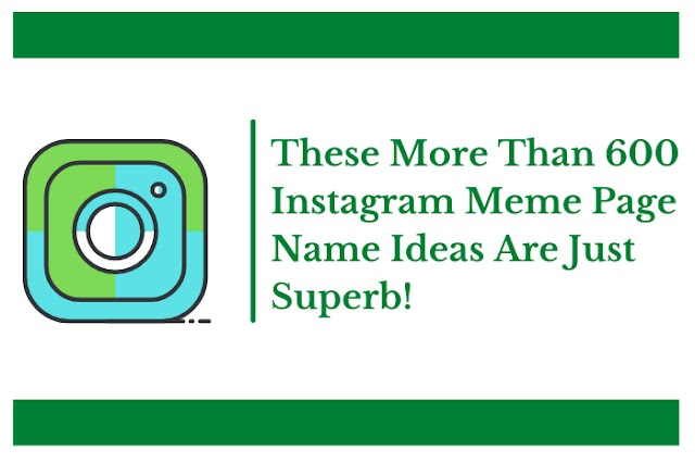 These More Than 600 Instagram Meme Page Name Ideas Are Just Superb!