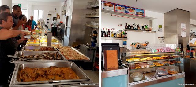 Bufê por quilo do Restaurante Relax, em Santa Maria, Ilha do Sal