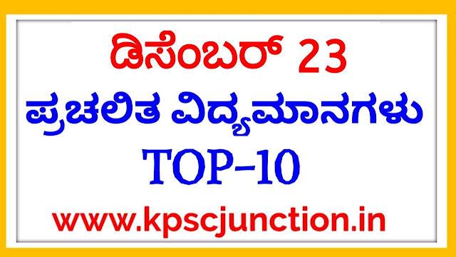 Top Current Affairs Quiz Questions: 23 December 2019