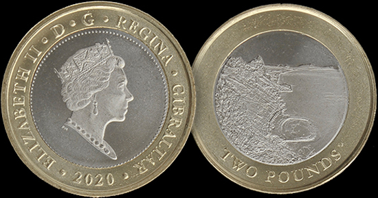 Gibraltar 2 pounds 2020 - Sandy Bay