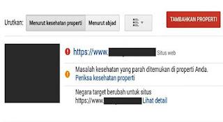CARA MEMPERBAIKI MASALAH KESEHATAN BLOG WEBMASTER TOOL