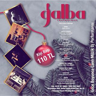 Galba Restaurant İstanbul Yılbaşı Programı 2020 Menüsü