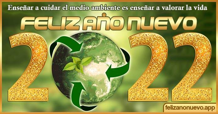 Feliz Año Nuevo 2022 ecológico