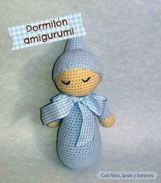 Bebé dormilón | Crochet doll pattern, Crochet dolls, Crochet | 268x236