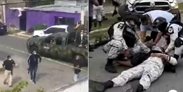 Galería: Balaceras, rescates y persecución; así fue el enfrentamiento entre La Guardia Nacional vs Sicarios en Cancún
