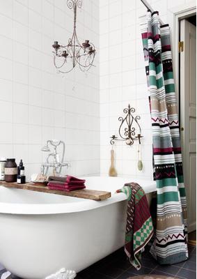 diy ausb chser in duschvorhang aus baumwolle. Black Bedroom Furniture Sets. Home Design Ideas